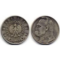 10 злотых 1936, Польша, Пилсудский. Коллекционное состояние
