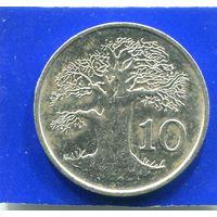 Зимбабве 10 центов 1987
