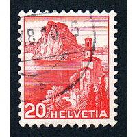 37: Швейцария, почтовая марка, 1936 год, номинал 20с, SG#375A