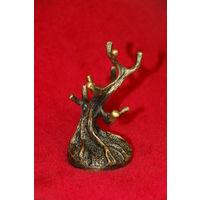 Подставка для украшений в виде деревца или коралла, бронза