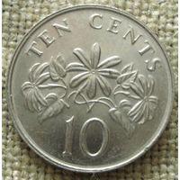 10 центов 1991 Сингапур
