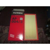 FILTRON AP004/3 - ВОЗДУШНЫЙ ФИЛЬТР. Старт со скидкой 50% от розничной цены! Применяемость внутри.