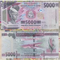 Распродажа коллекции. Гвинея. 5 000 франков 2015 года (P-49а - 2012-2018 Issue)