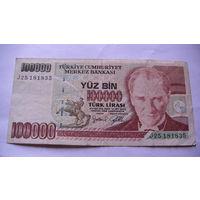 ТУРЦИЯ 100000 лир 1991 года. 25181835 распродажа