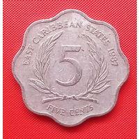 58-40 Восточные Карибы, 5 центов 1987 г.