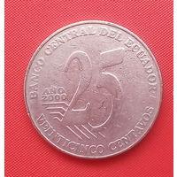 61-36 Эквадор, 25 сентаво 2000 г.