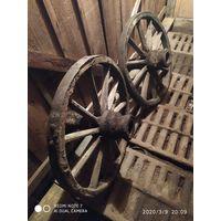 Колёса от старой телеги