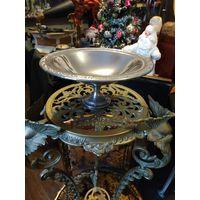 093 Ваза для фруктов Серебрение Клейма : Смотрите все мои лоты! Много с рубля! Рождественский Аукцион без МЦ