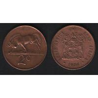 Южная Африка (ЮАР) _km83 2 цента 1974 год (b06)