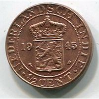 НИДЕРЛАНДСКАЯ ИНДИЯ - 1/2 ЦЕНТА 1945