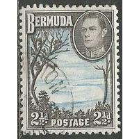 Бермуды. Король Георг VI. Подковообразная бухта. 1938г. Mi#106.