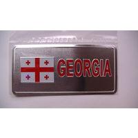 "Наклейка на машину ""GEORGIA"" и флаг Грузии. пластик.  распродажа"