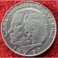 1 крона 1978 год Швеция, Король Карл XVI Густав