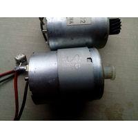 2 моторчика от принтера hp без м.ц