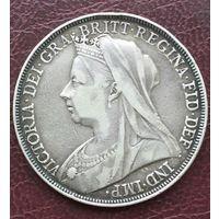 Великобритания 1 крона 1898г. Редкость. LXII