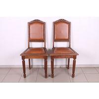 Два дубовых стула.Массив.Пружинный блок.