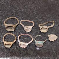 7 перстней - колец с Сольвычегодскими эмалями на реставрацию ( 2 вставки)