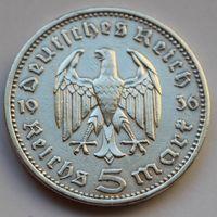 Германия, 5 марок 1936 А (серебро)