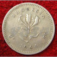 7099:  5 центов 1964 Родезия