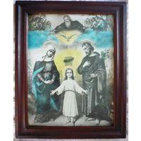 Икона католическая из Гродненской области 37х46 см.