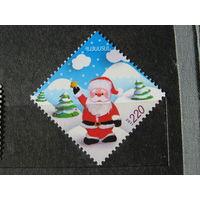 Новый год и Рождество - Марка - Армения, 2011 - праздники - дед Мороз, елка