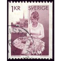 1 марка 1976 год Швеция 938