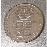 Швеция, 1 крона, 1970 год, медь-никель