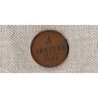 Австрия 1 крейцер 1851/(ОI)