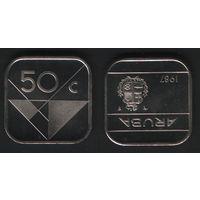 Аруба _km4 50 центов 1987 год (ha) посл.год (b06)