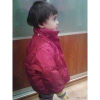 Куртка теплая для принцессы до 3 лет