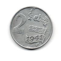 РЕЙХСКОМИССАРИАТ НИДЕРЛАНДЫ  2 1/2 ЦЕНТА 1941. РЕДКАЯ