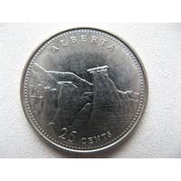Канада 25 центов 1992 г. 125 лет Конфедерации Канада - Альберта (юбилейная)