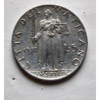 Ватикан 5 лир, 1952 2-2-13