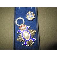С 1 рубля!Орден и фрачник Гражданских заслуг Командорский крест Испания учреждён в 1926 г.Серебро.