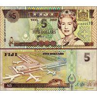 Фиджи 5 долларов образца 2002 года UNC p105b