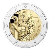 2 Евро Франция 2020  75 лет ЮНИСЕФ UNC из ролла