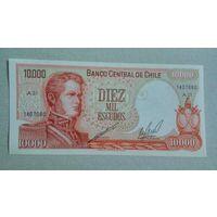 Чили 10000 эскудо unc