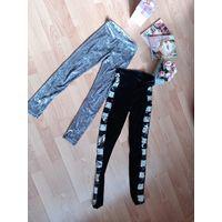 Брюки из плюша и джинс для модницы