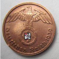 Третий рейх. 2 рейхспфеннига 1939 B  2-133
