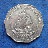 Карибы (Карибские острова) 1 доллар 1989