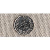 Либерия 25 центов 2000 (Bh)