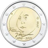 2 Евро Финляндия 2014 Туве Янсон UNC из ролла