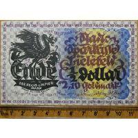 1/2 доллара = 2,10 золотая марка 1923г. Билефельд Германия