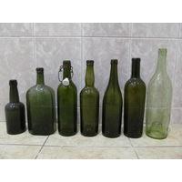 Бутылки старинные 7 шт.