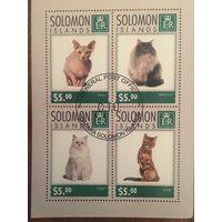 Соломоновы острова 2014. Коты (блок)