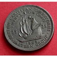 04-34 Британские Карибы, 25 центов 1965 г.