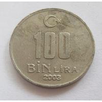 Турция 100 000 лир 2003