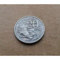 Австралия, 20 центов 1966 г., Елизавета II