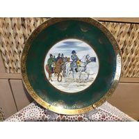 Тарелка коллекционная Война 1812 года Наполеон Германия 26 см