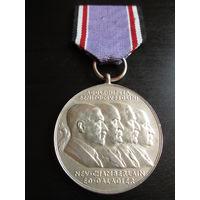 КОПИЯ ТРЕТИЙ РЕЙХ  Медаль Мюнхенское соглашение Гитлер,Муссолини,Чемберлен,Даладье